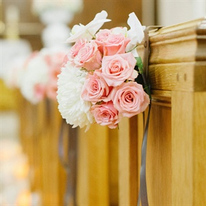Pink and White Ceremony Flowers