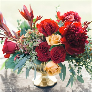 Elegant Red Centerpieces