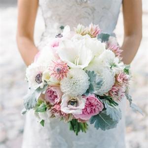 Textured Pastel Bridal Bouquet