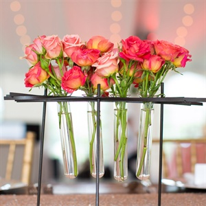 Coral Rose Centerpieces