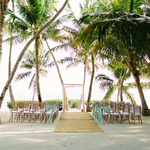 Palm Tree-Covered Ceremony Space