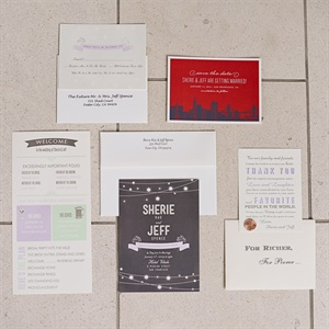 Red and Black Invitation Suite