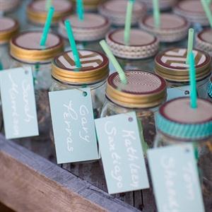 Personalized Mason Jar Escort Cards