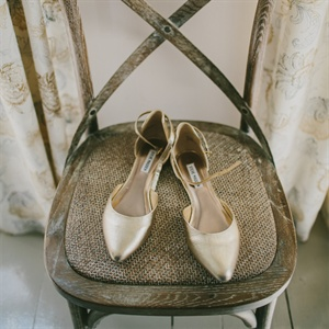 Gold Pointed Wedding Flats
