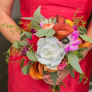Succulent Bridesmaids Bouquet