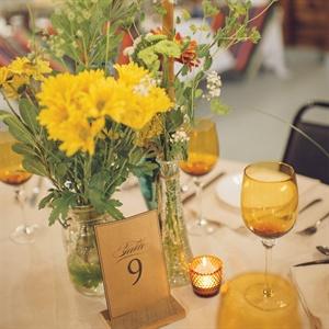 Yellow Wildflower Centerpieces