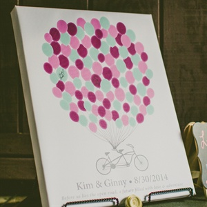 Balloon Themed Guest Book