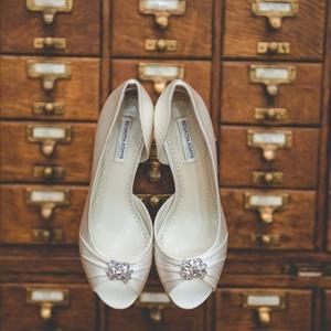 Embellished Ivory Heels