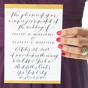 Calligraphed Invitations