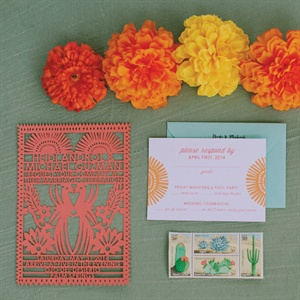 Spanish-Inspired Lasercut Invitations