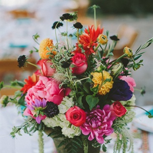 Bright Wild Centerpieces