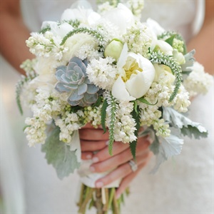 Textured Ivory Bridal Bouquet