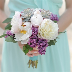 Peony and Lilac Bridesmaid Bouquet