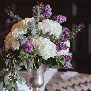 Hydrangea and Lilac Floral Arrangements