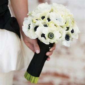 White Anemone Bridal Bouquet