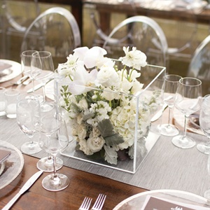 Clear Box Centerpieces