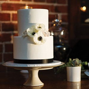 Modern Two Tier Wedding Cake