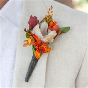 Exotic Orange Boutonniere