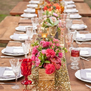 Bright Glam Reception Decor