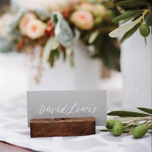 Gray Place Cards