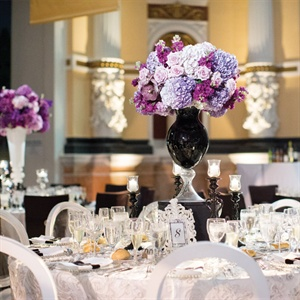 Bright Purple Centerpieces