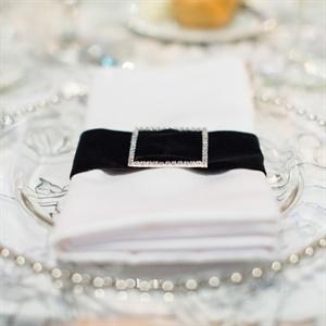 Rhinestone Studded Napkin Rings