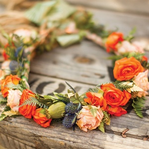 Thistle and Rose Floral Crown