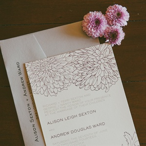 Illustrated Floral Invitation Suite