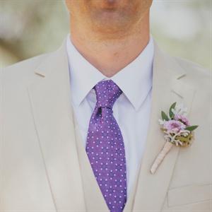 Purple Mum Boutonniere