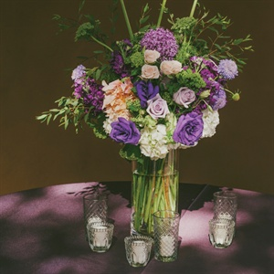 Purple Centerpieces