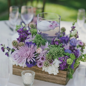 Low Purple Centerpieces