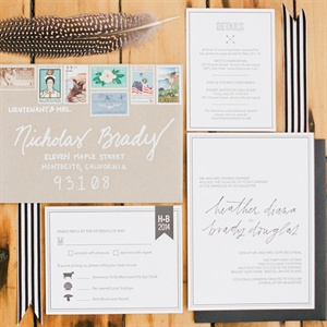 Casual Black and White Invitations