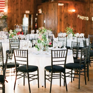 Black and White Indoor Reception
