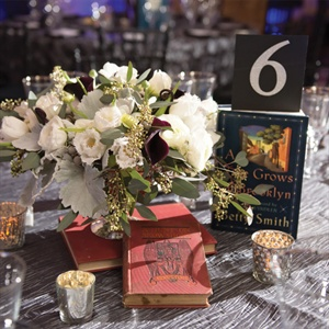 Library Inspired Centerpieces