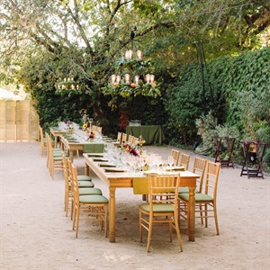 Sage Green Outdoor Reception