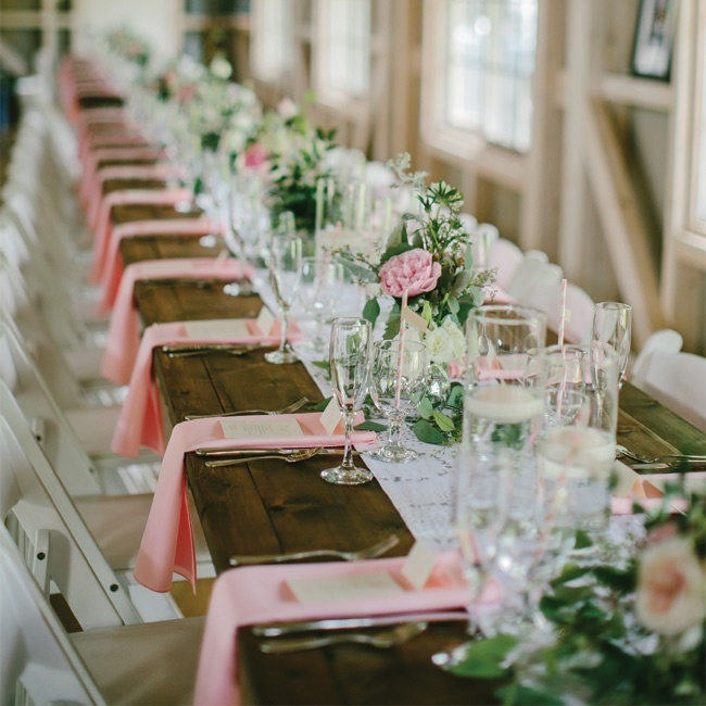 Wedding Venues Your Complete Guide To Getting It All Right: Long Farm Table Decor