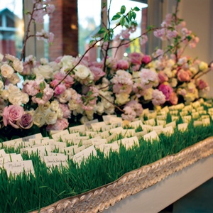 Grass Bed Escort Cards