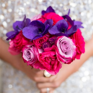 Pink and Purple Bridesmaid Bouquets