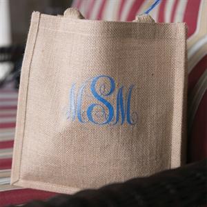 Monogrammed Burlap Bags