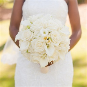 Ivory Rose and Calla Lily Bridal Bouquet