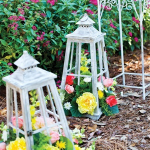 Flower Filled Lanterns