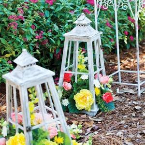 Flower Filled Lanterns