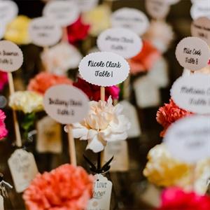 Flower Escort Cards