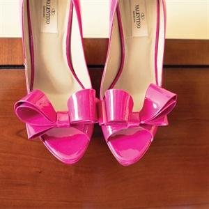 Pink Bow Bridal Heels