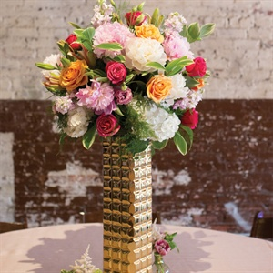 Bright Metallic Centerpieces