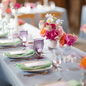 Colorful Table Arrangement