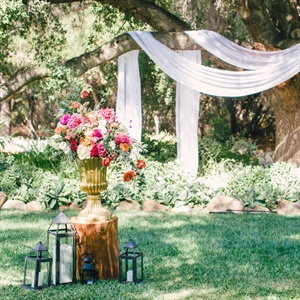 Lush Ceremony Decor