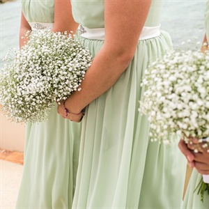 Baby's Breath Bridesmaid Bouquets