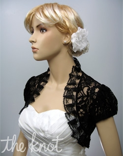 Lace bolero. Ivory, white, or black. Sizes S, M, L, XL