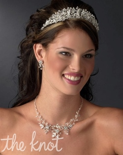 Silver-plated hand-wired crown features Swarovski crystals and rhinestones.